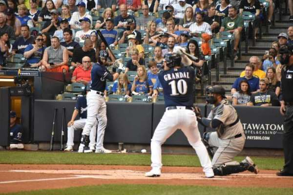 Miller Park, section: 124, row: 2, seat: 7