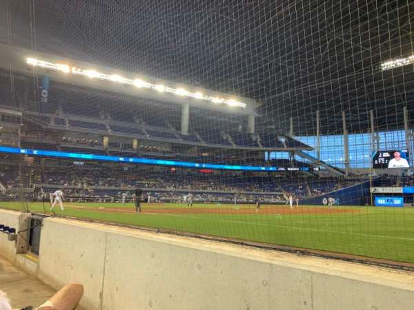 Marlins Park, section: Fl1, row: Bb, seat: 1