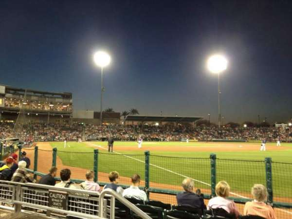 Goodyear Ballpark, section: 122, row: G, seat: 4