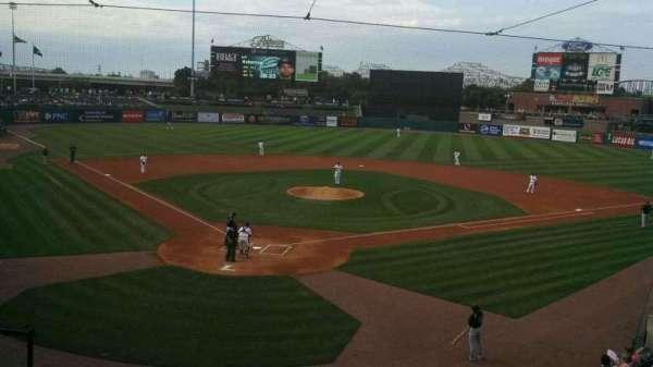 Louisville Slugger Field, section: 214, row: A, seat: 6