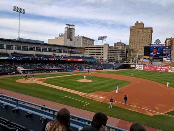 Fifth Third Field, section: 215, row: C, seat: 1