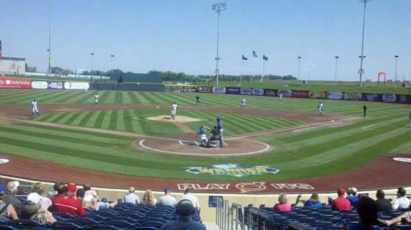 Werner Park, section: 114, row: 18, seat: 1