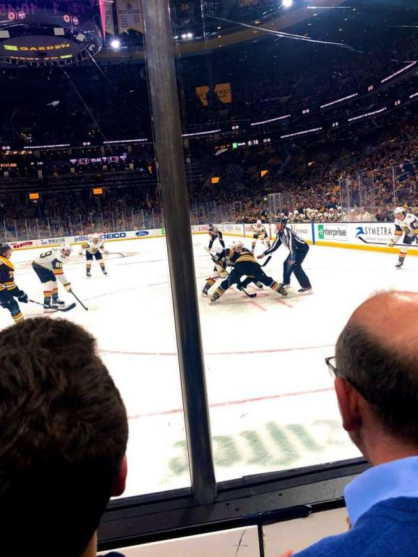 TD Garden, section: LOGE 6, row: 2, seat: 10