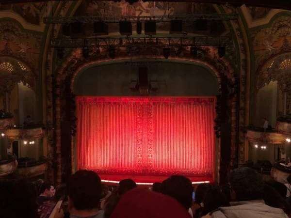 New Amsterdam Theatre, section: Mezzanine C, row: JJ, seat: 105