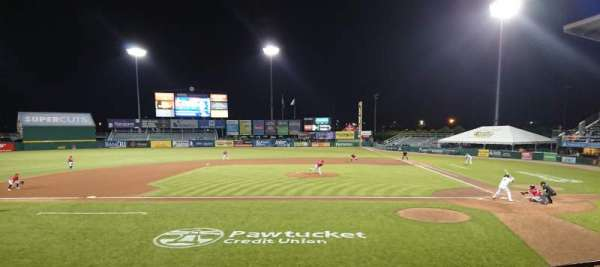 McCoy Stadium, section: 10, row: D, seat: 1