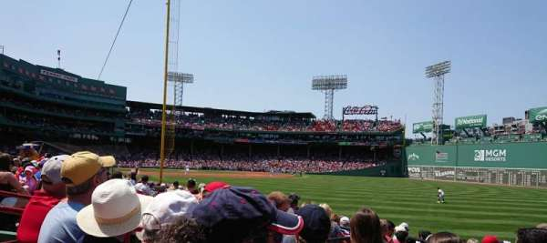 Fenway Park, section: Right Field Box 92, row: GG, seat: 9
