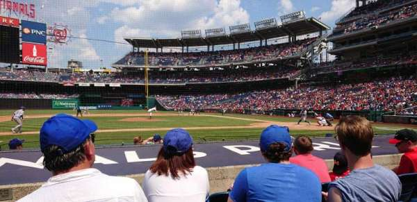 Nationals Park, section: 117, row: G, seat: 18