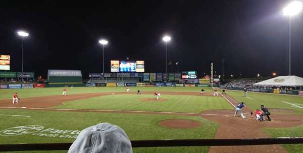 McCoy Stadium, section: 9, row: B, seat: 1