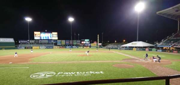 McCoy Stadium, section: 10, row: B, seat: 1