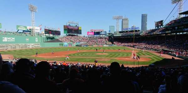 Fenway Park, section: Loge Box 137, row: NN, seat: 9