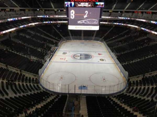 Rogers Place, section: SN-CC, row: 1, seat: 6