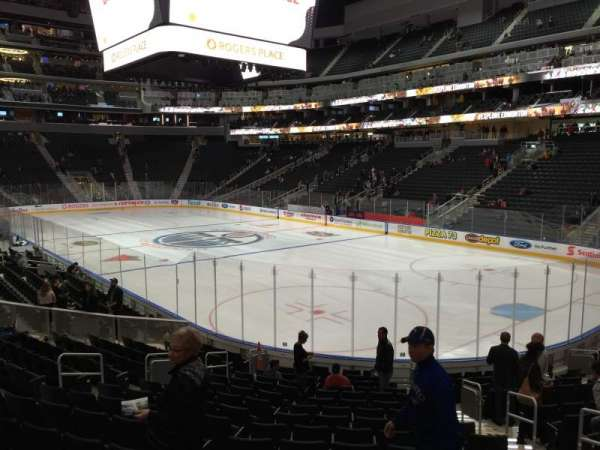 Rogers Place, section: 115, row: 17, seat: 7