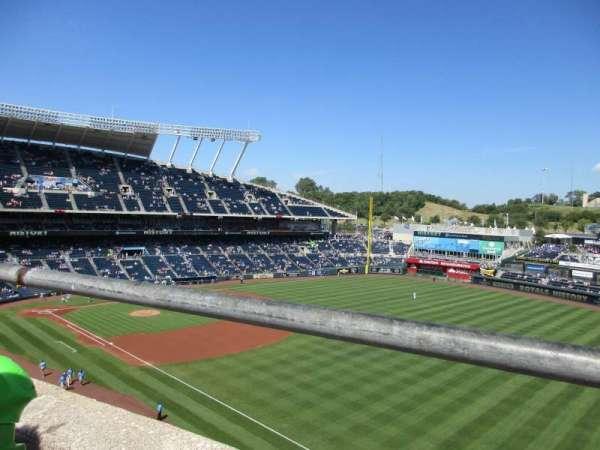 Kauffman Stadium, section: 437, row: A, seat: 18