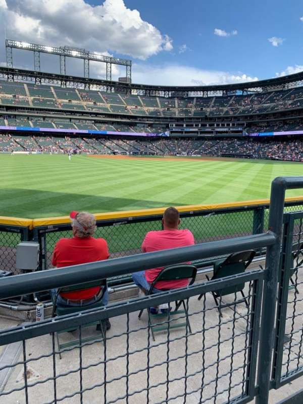 Coors Field, section: 157, row: 2, seat: 2