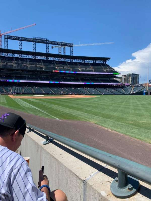 Coors Field, section: 112, row: 8, seat: 2