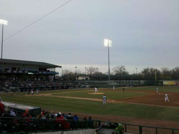 Dow Diamond, section: 113, row: 17, seat: 27