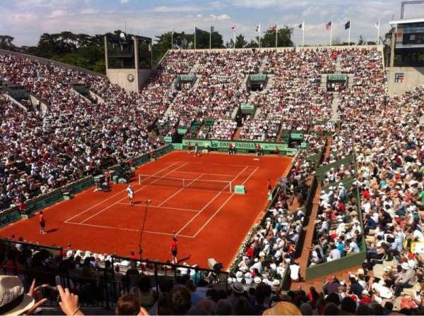 Court Suzanne-Lenglen, section: Trib Sud, row: Esc2 Rang 19