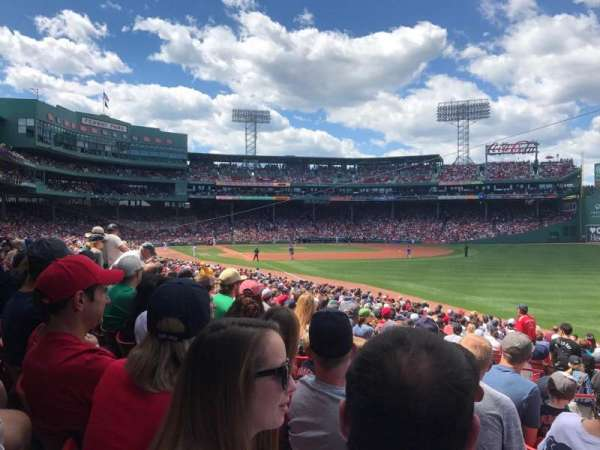 Fenway Park, section: Right Field Box 92, row: DD, seat: 24
