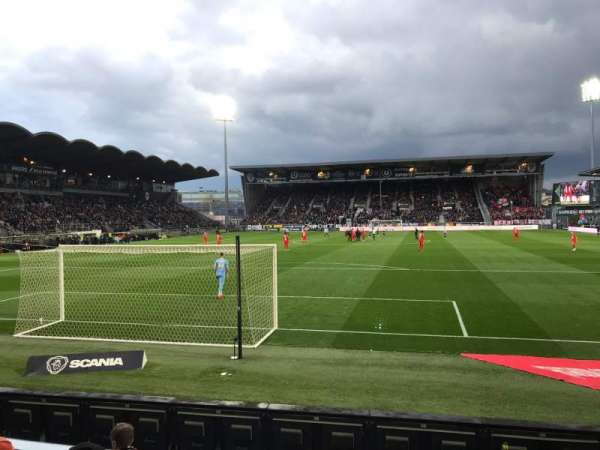 Stade Raymond Kopa, section: Colombier, row: D, seat: 30