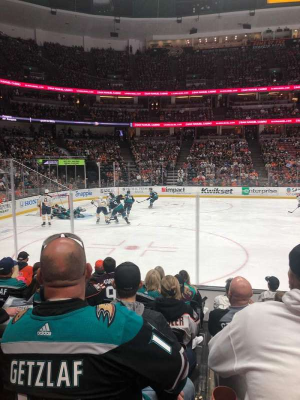 Honda Center, section: 210, row: H, seat: 8