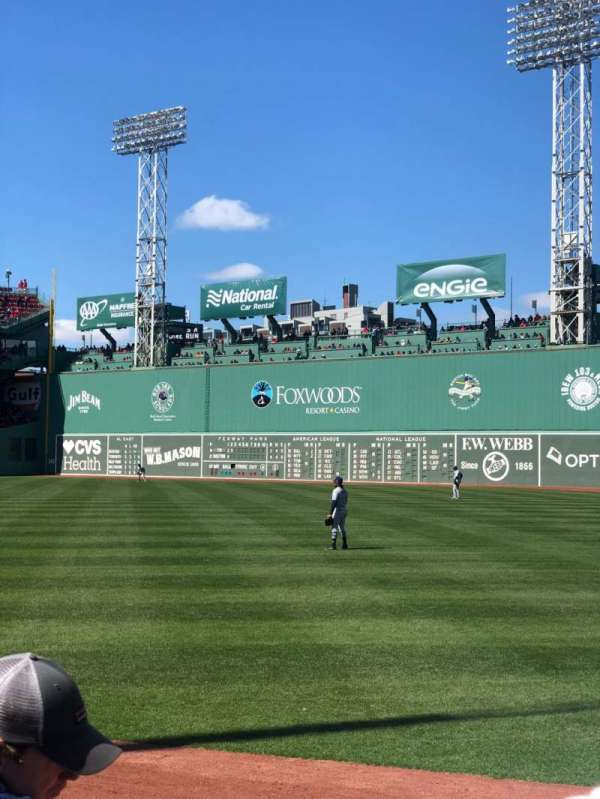 Fenway Park, section: Right Field Box 4, row: J, seat: 9