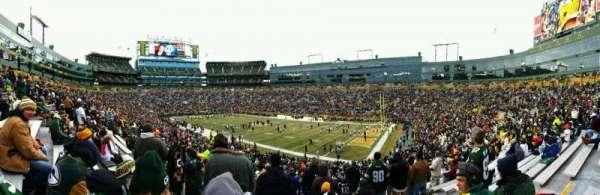 Lambeau Field, section: 109, row: 44, seat: 17