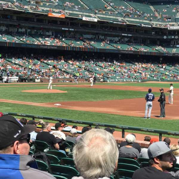 AT&T Park, section: Box 105, row: 12, seat: 7