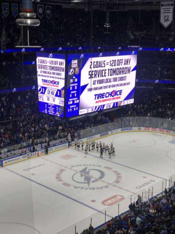 Amalie Arena, section: 320, row: H, seat: 6