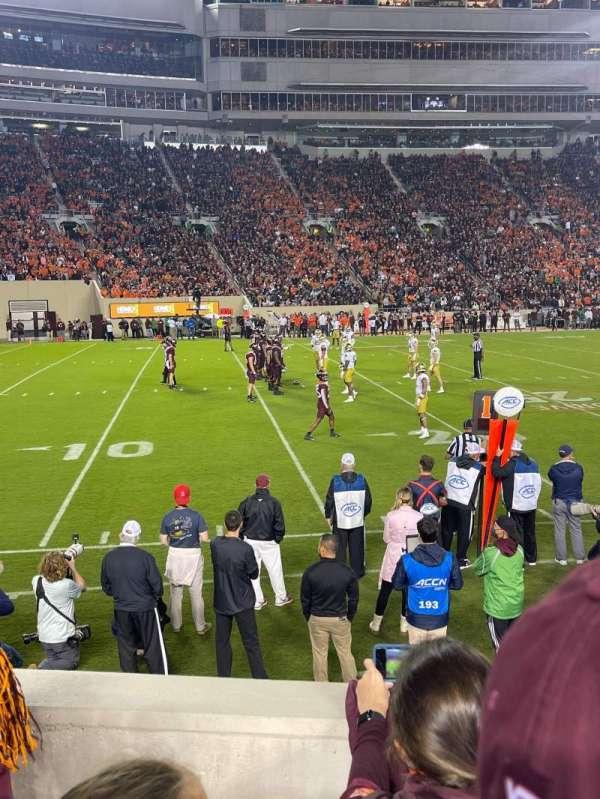 Lane Stadium, section: 15, row: J, seat: 15