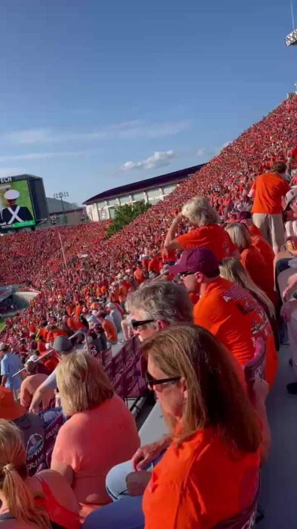 Lane Stadium, section: 15, row: FFF, seat: 26