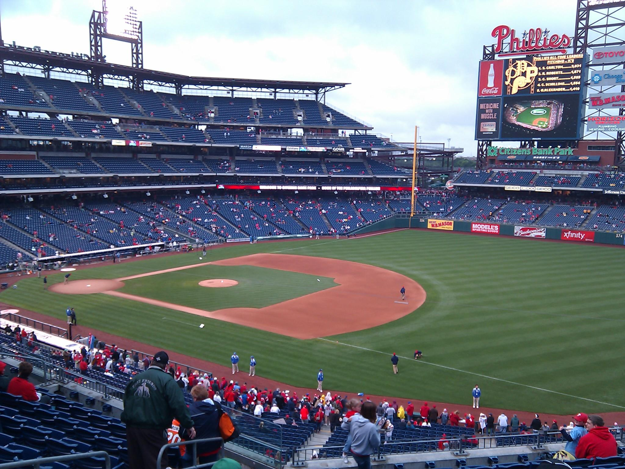 Citizens Bank Park Section 210 Row 10 Seat 20