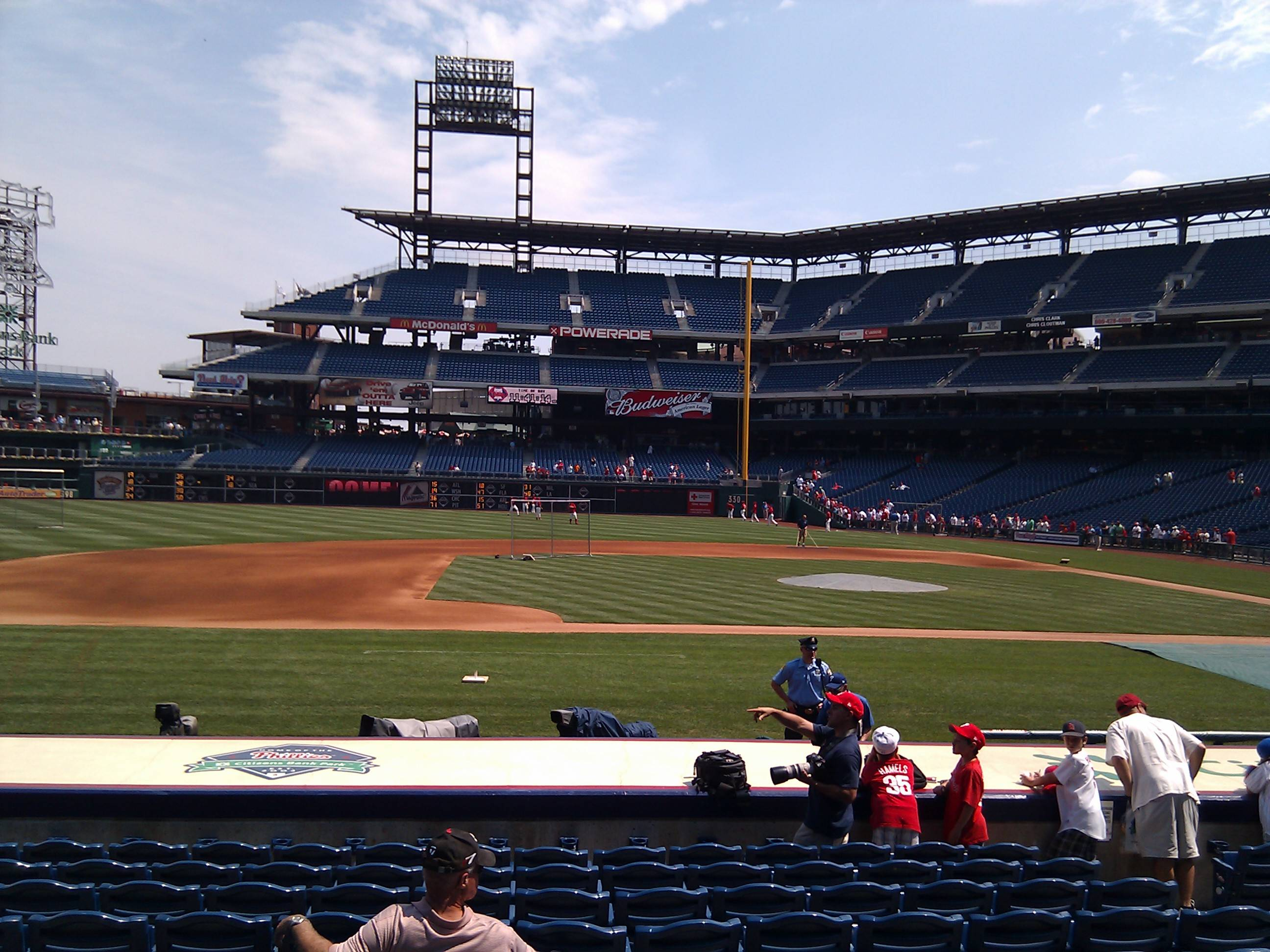 Citizens Bank Park Section 131 Row 11 Seat 7