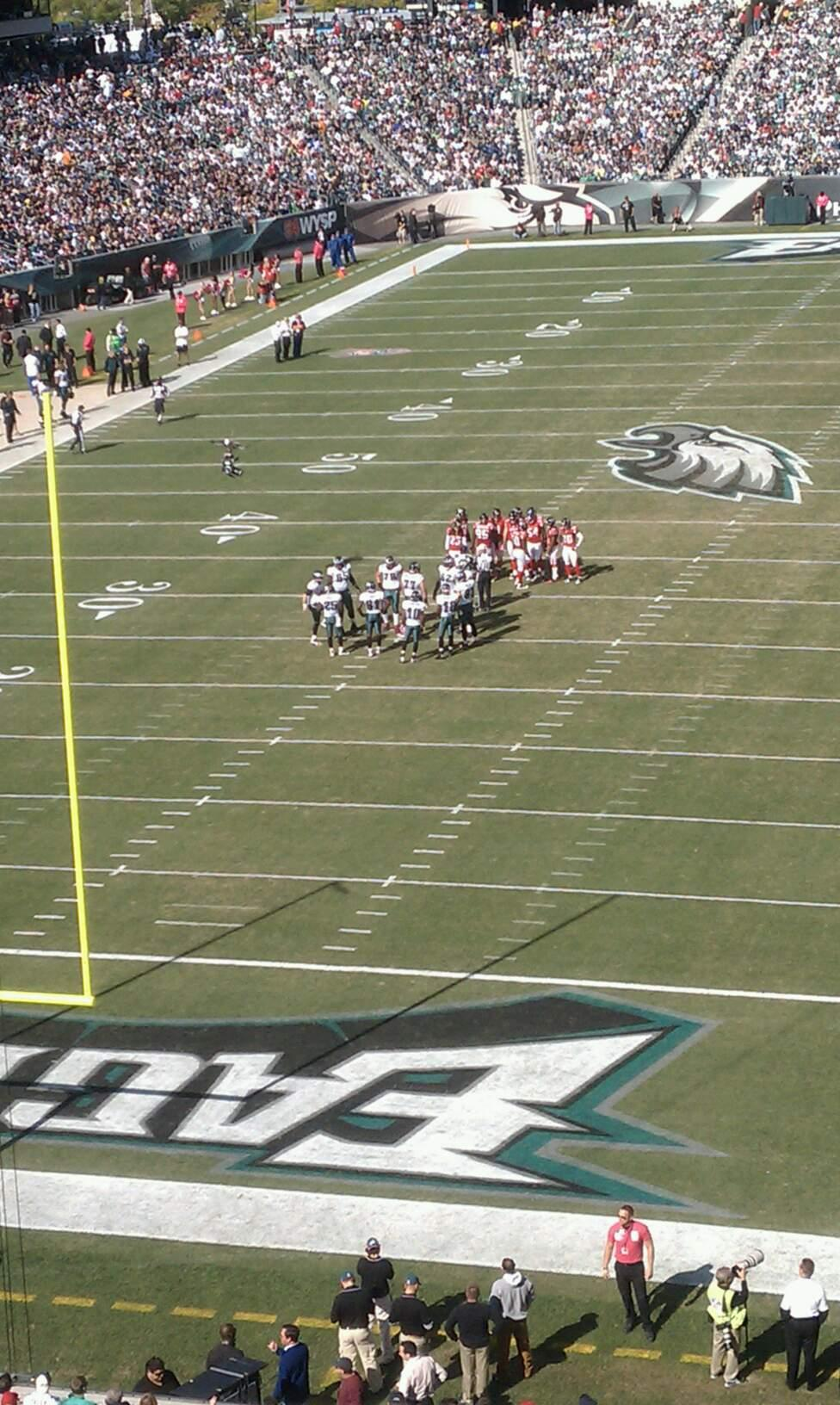 Lincoln Financial Field Section M12 Row 2 Seat 3
