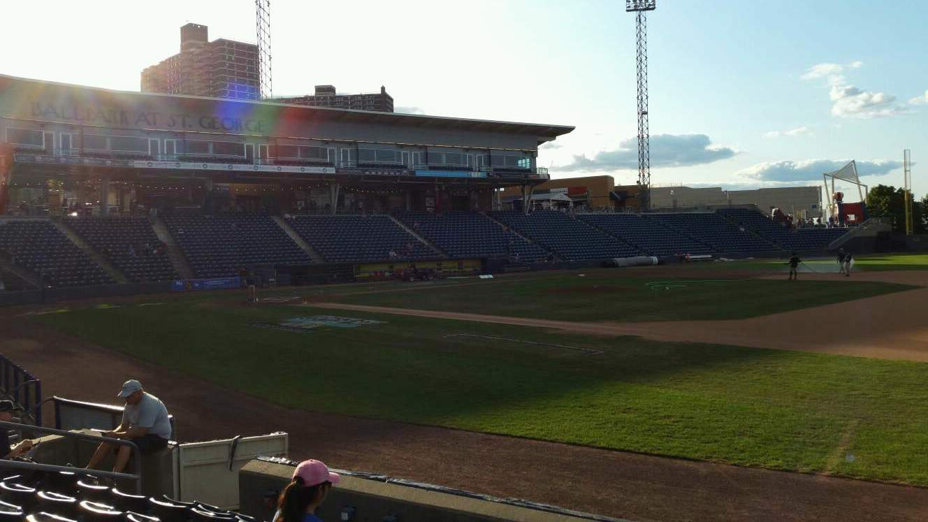 Richmond County Bank Ballpark Section 14 Row G Seat 12