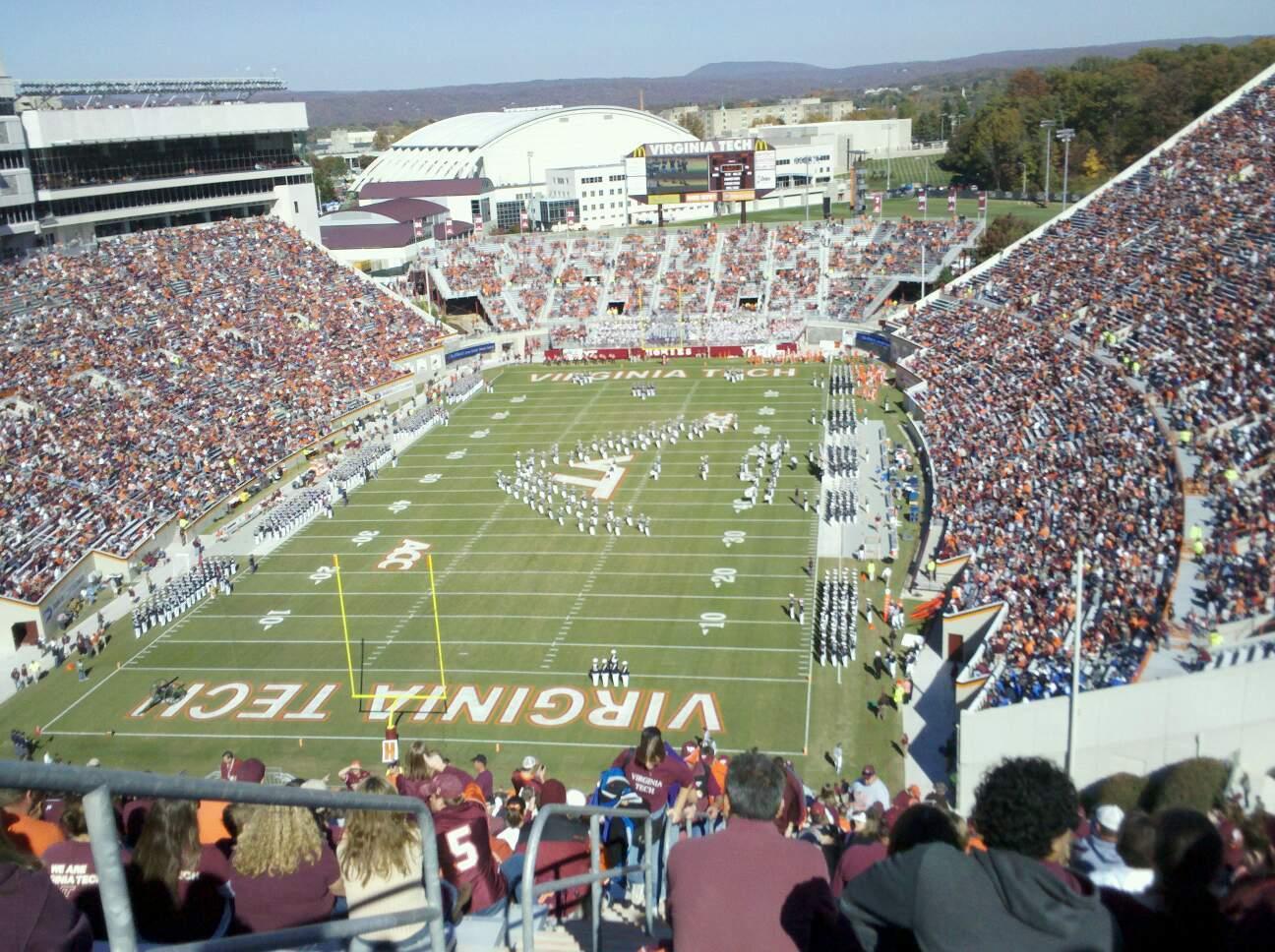 Lane Stadium Section 503 Row DD Seat 23