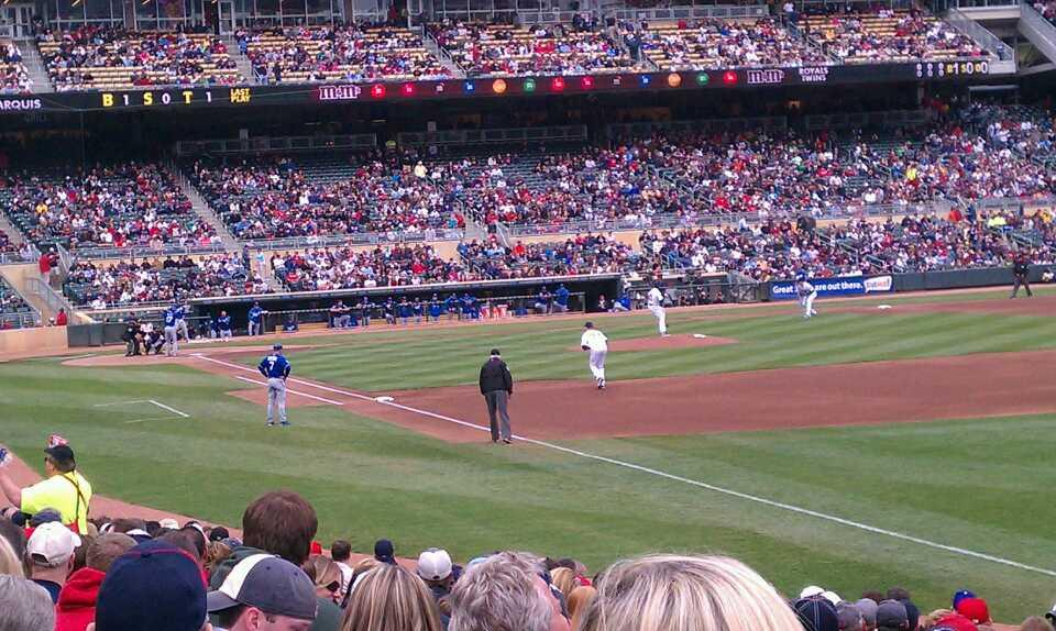 Target Field Section 102 Row 18 Seat 21