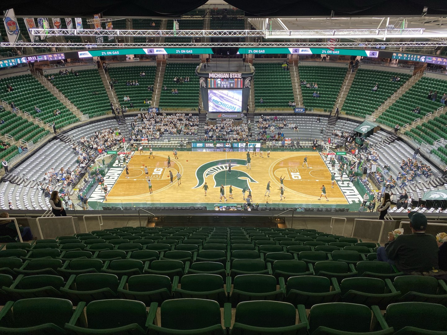 Breslin Center Section 227 Row 16 Seat 6