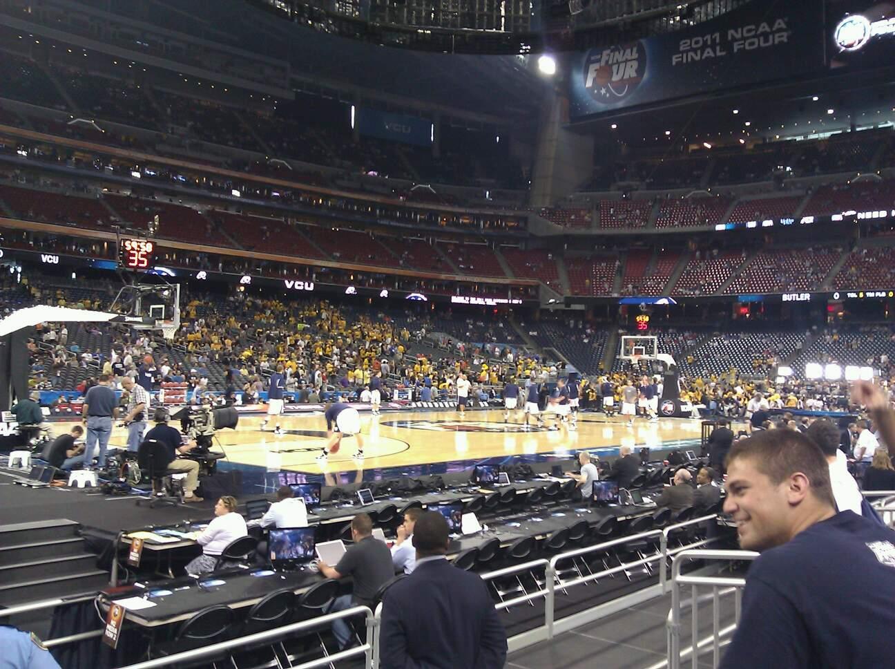 NRG Stadium, section 109, row 5, seat 9 - Butler Bulldogs vs Virginia