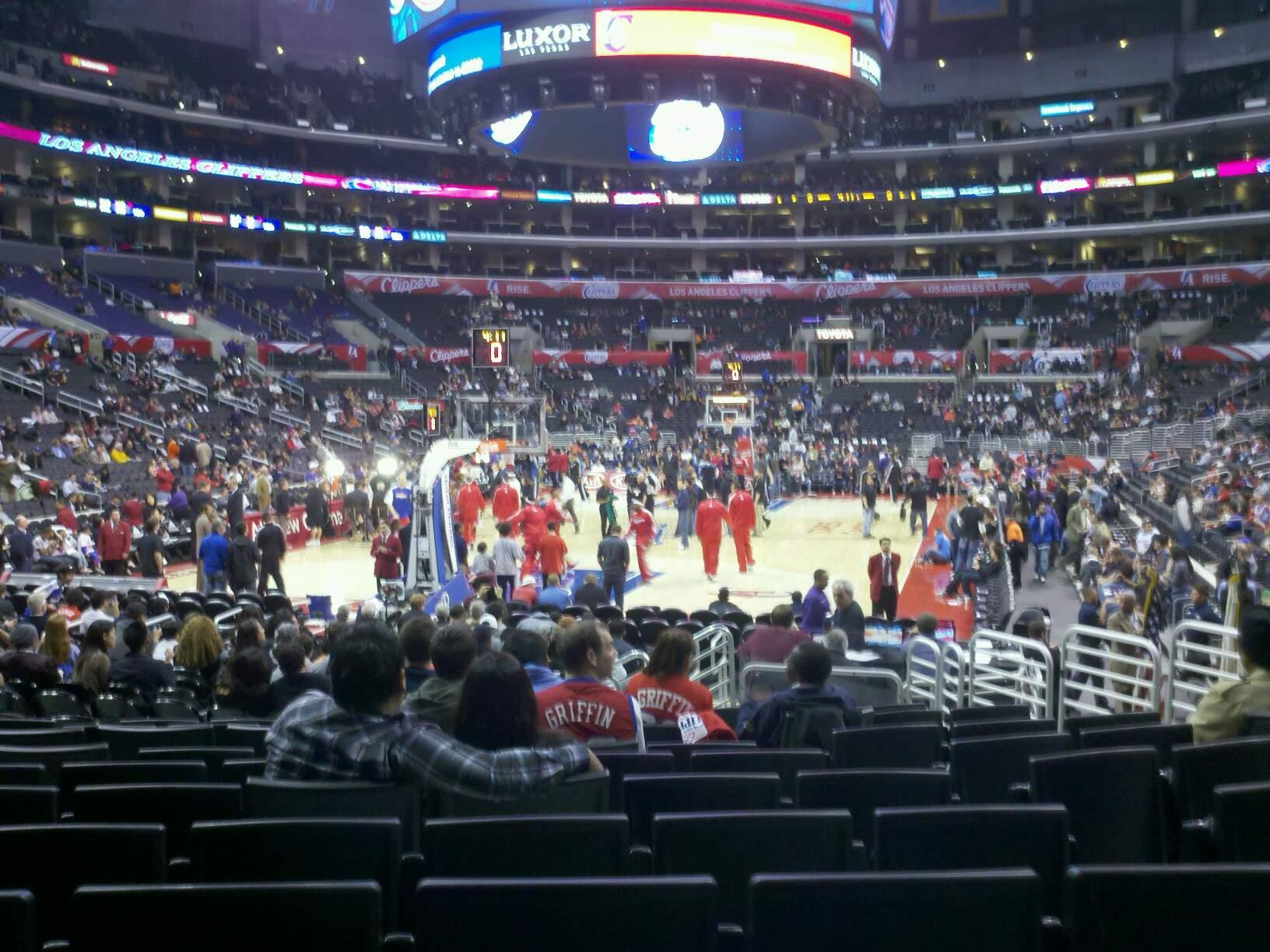 Staples Center Section 115 Row 13 Seat 10