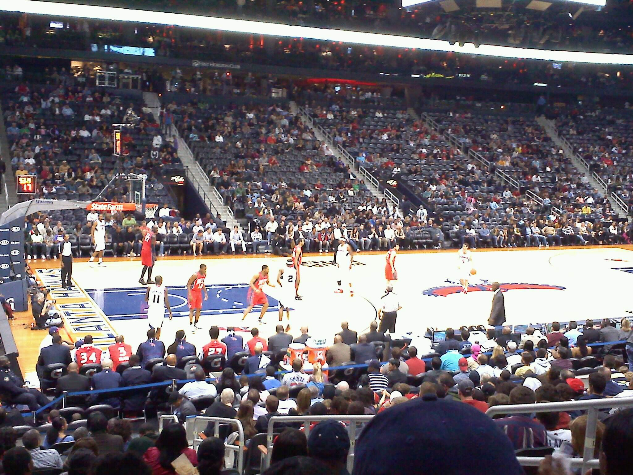 State Farm Arena Section 121 Row Q Seat 5