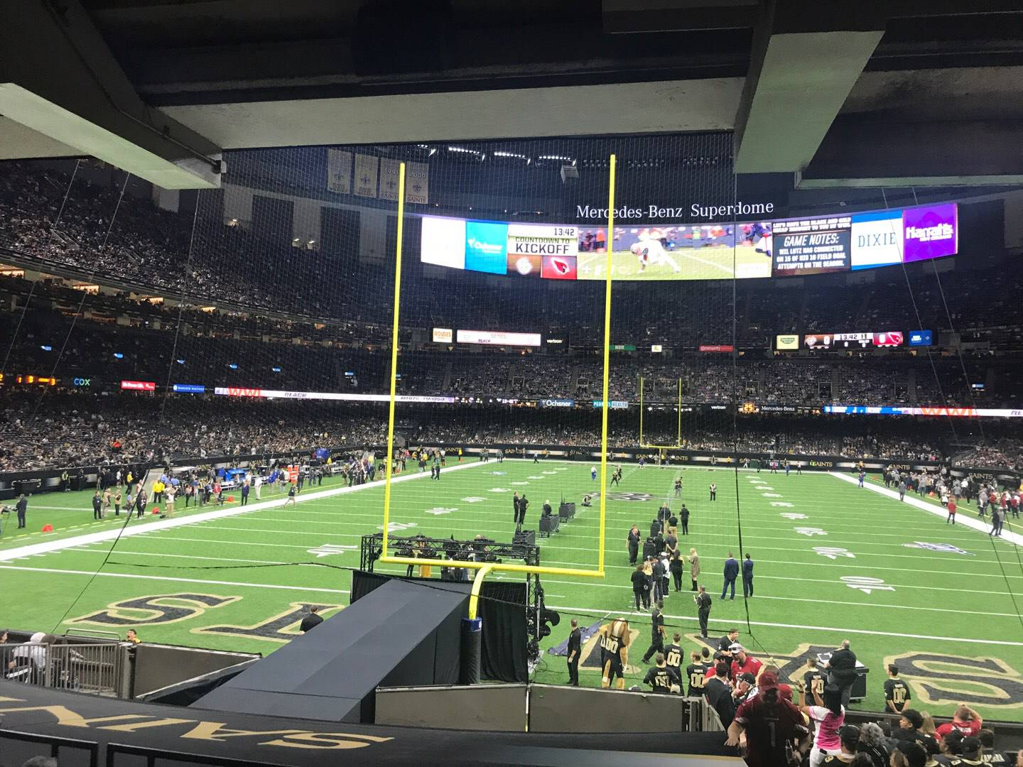 Caesars Superdome Section 128 Row 18 Seat 1