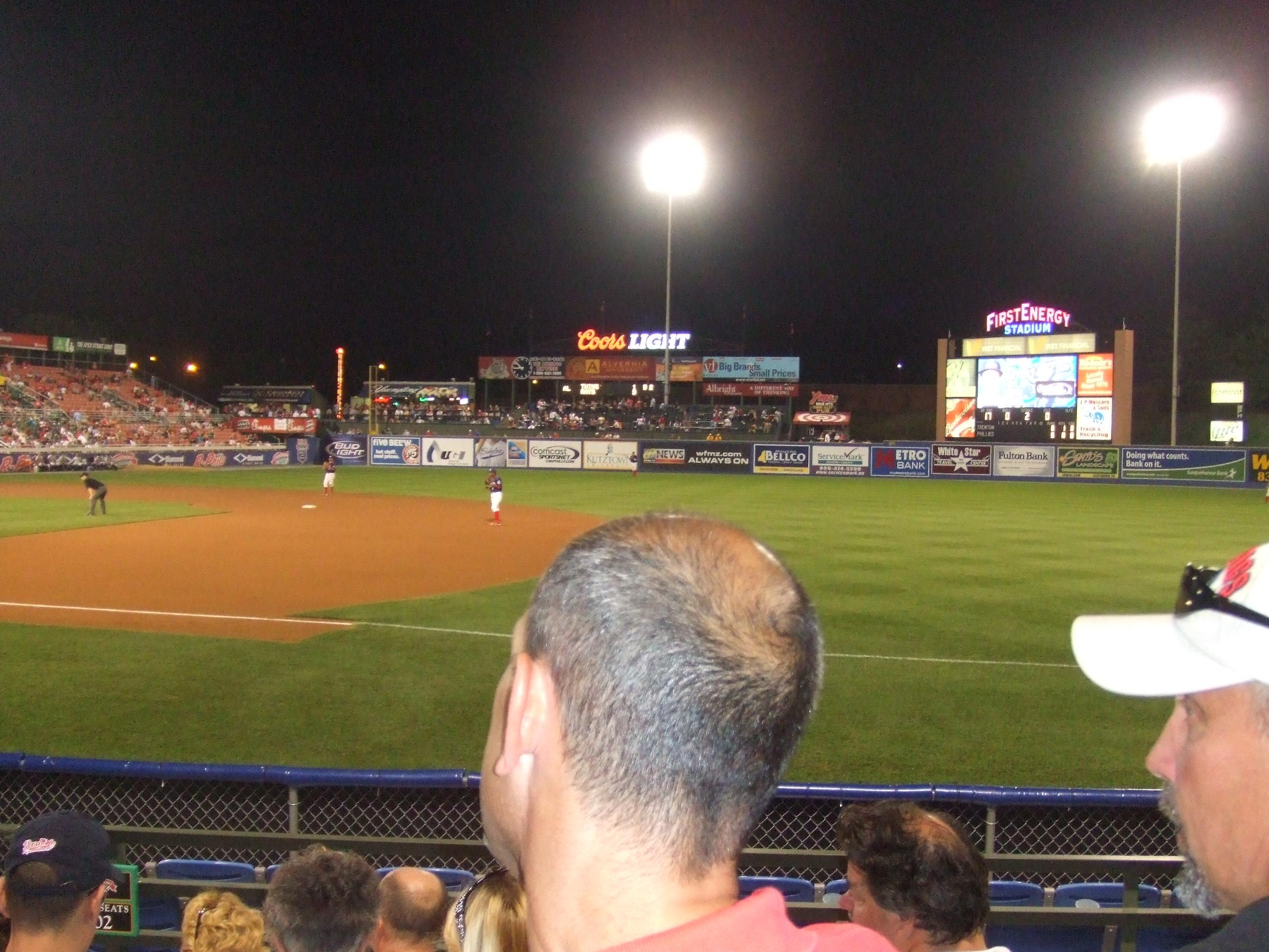 FirstEnergy Stadium (Reading) Section green D Row 5 Seat 1