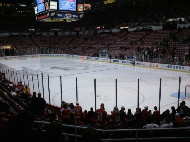 Joe Louis Arena Section 103 Row 13 Seat 7