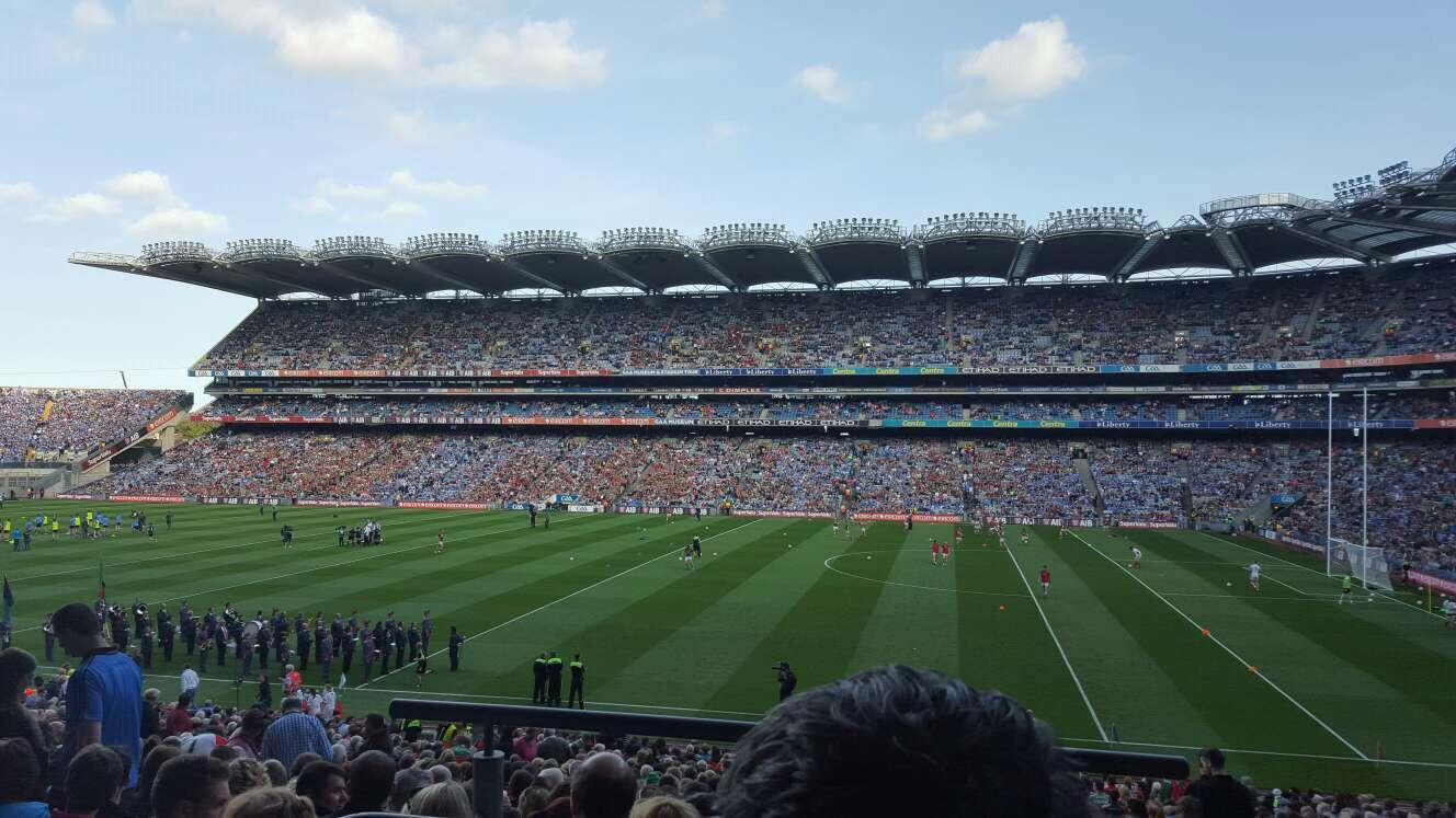 Croke Park Section 328 Row NN Seat 17