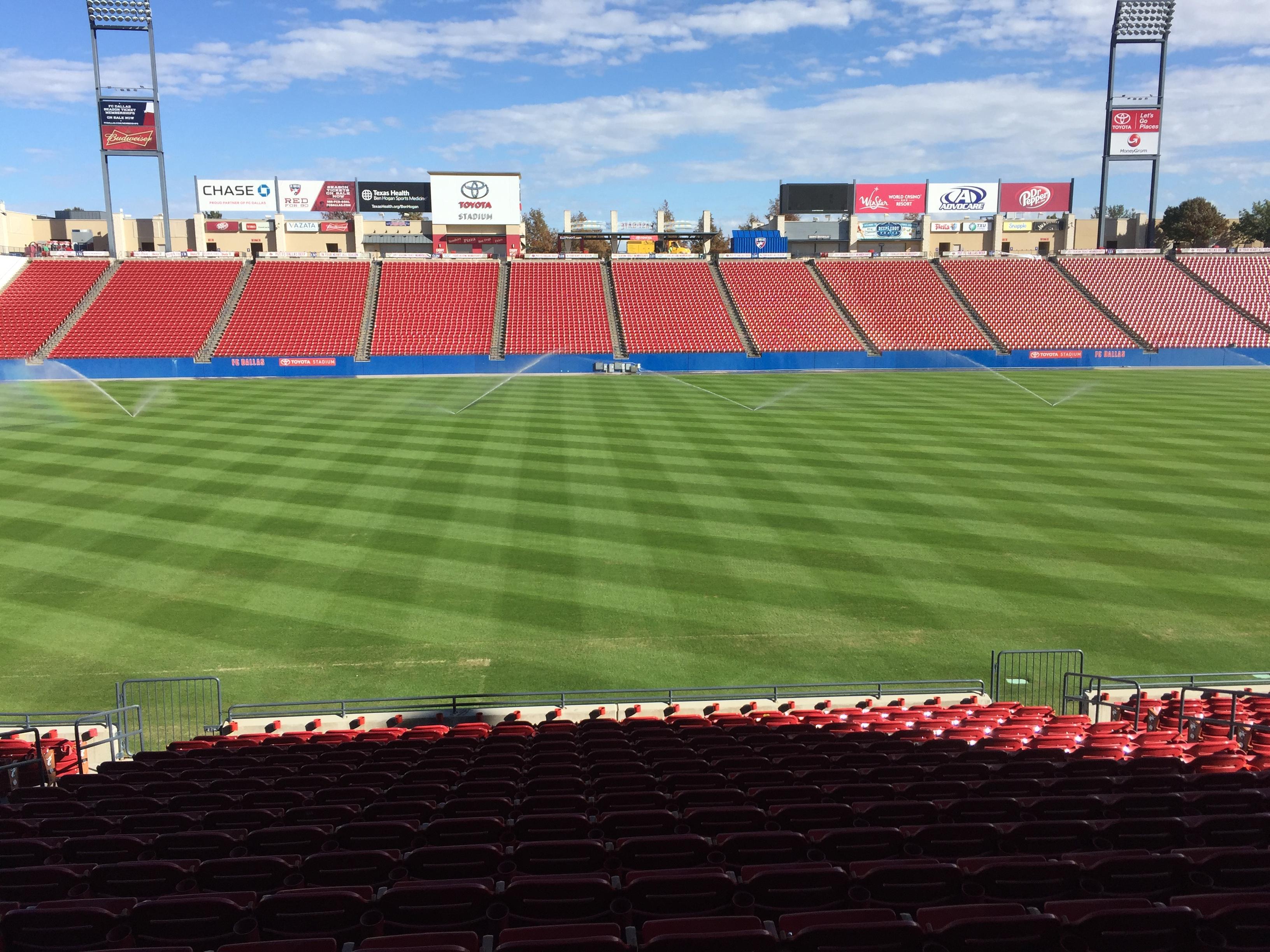 Toyota Stadium Section 105 Row 17 Seat 11