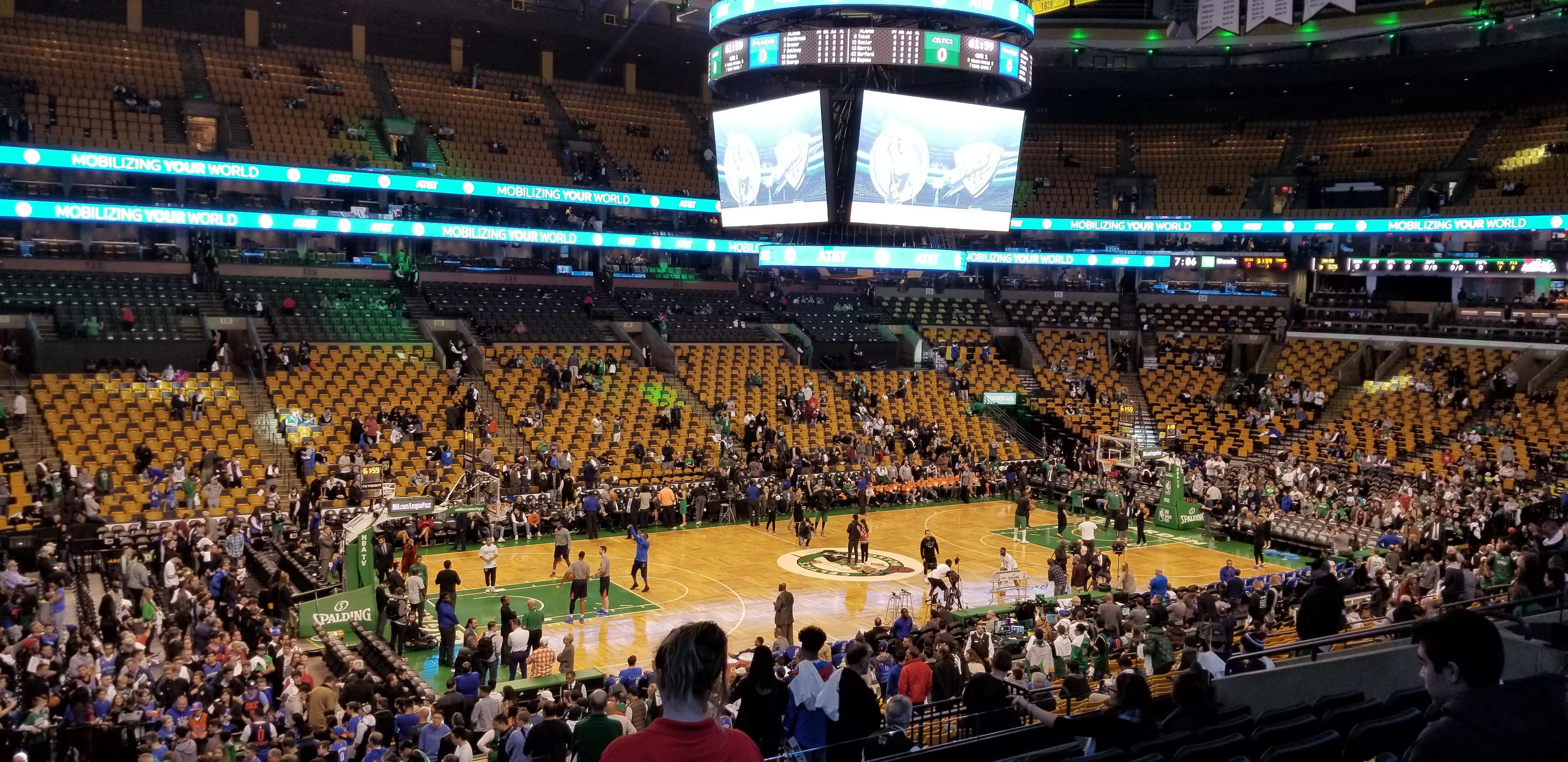 TD Garden section Club 115 row E seat 15 - Boston Celtics vs ...