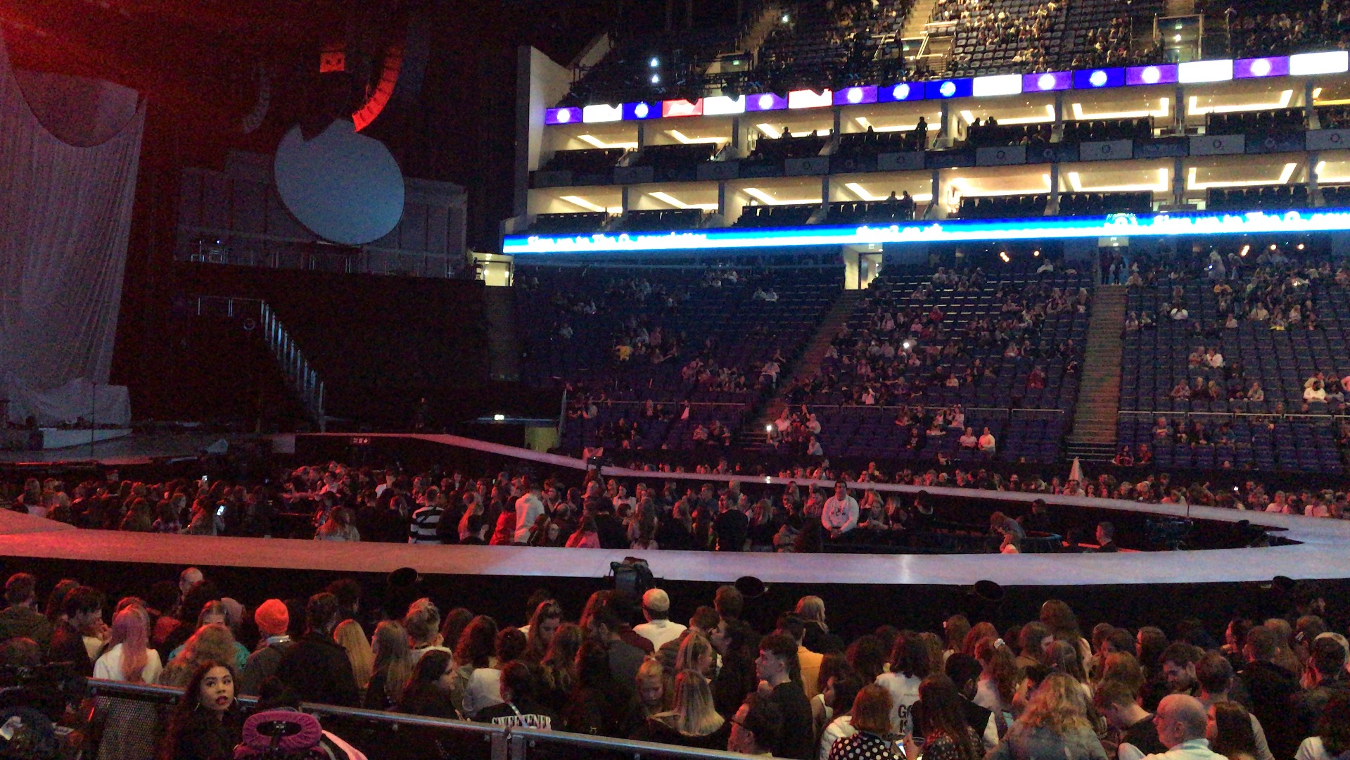 The O2 Arena Section 102 Row F Seat 52