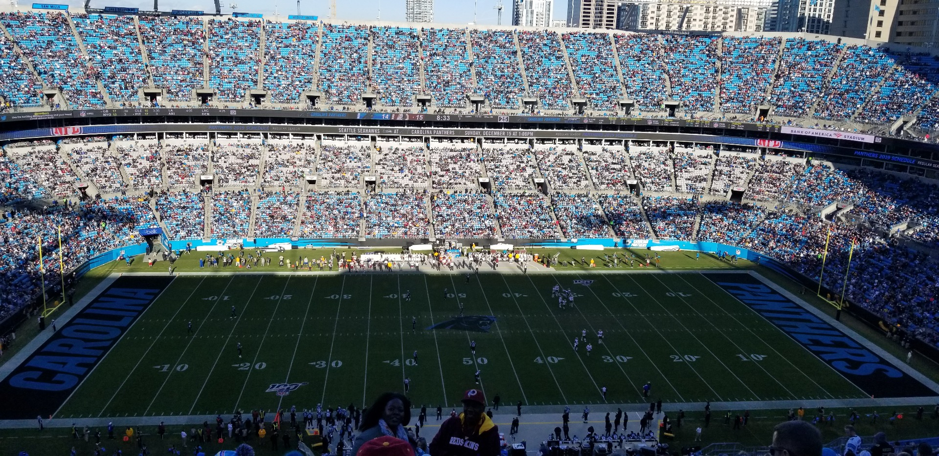 Bank of America Stadium Section 543 Row 22 Seat 1