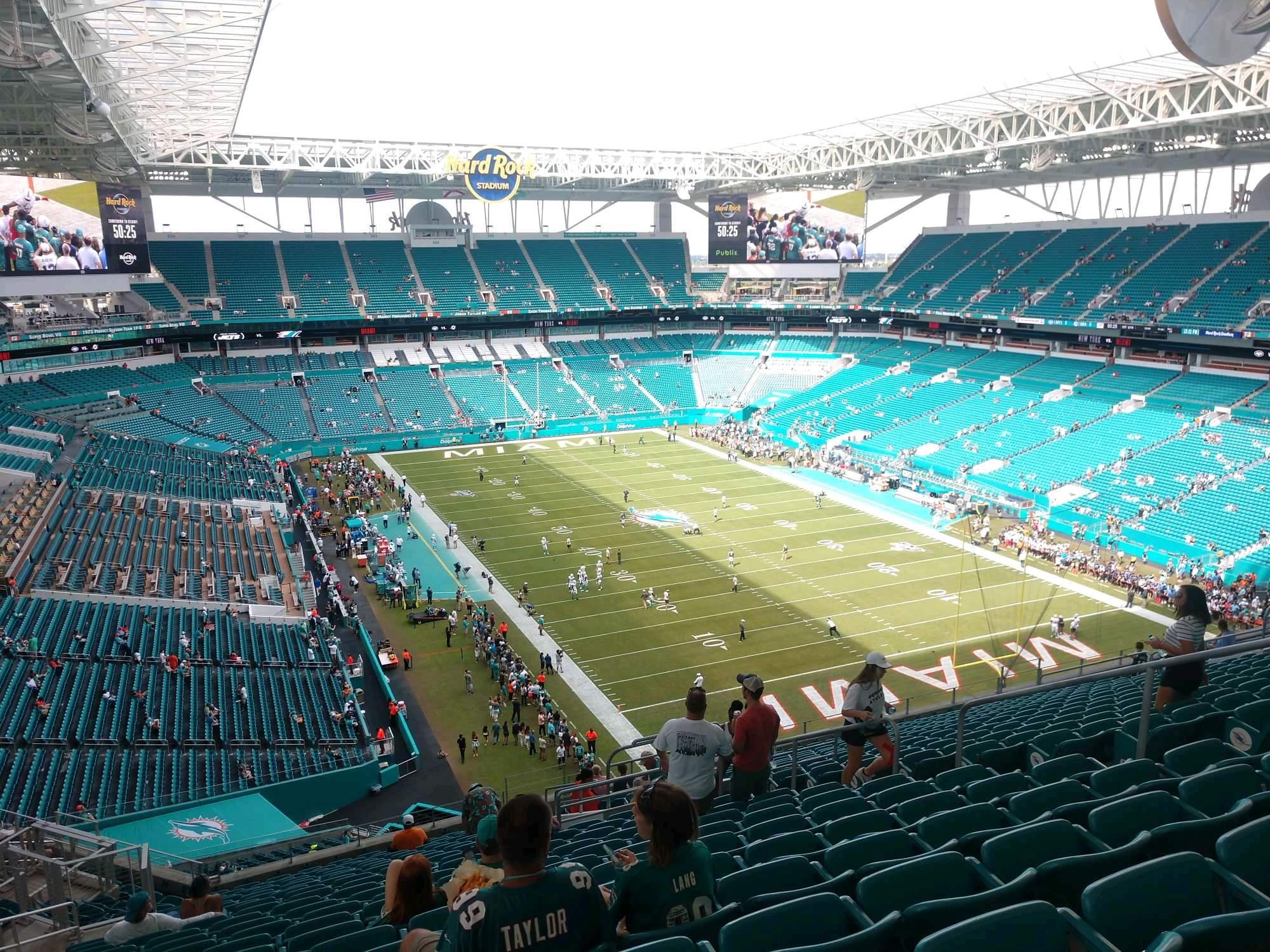 Hard Rock Stadium Section 336 Row 22 Seat 10