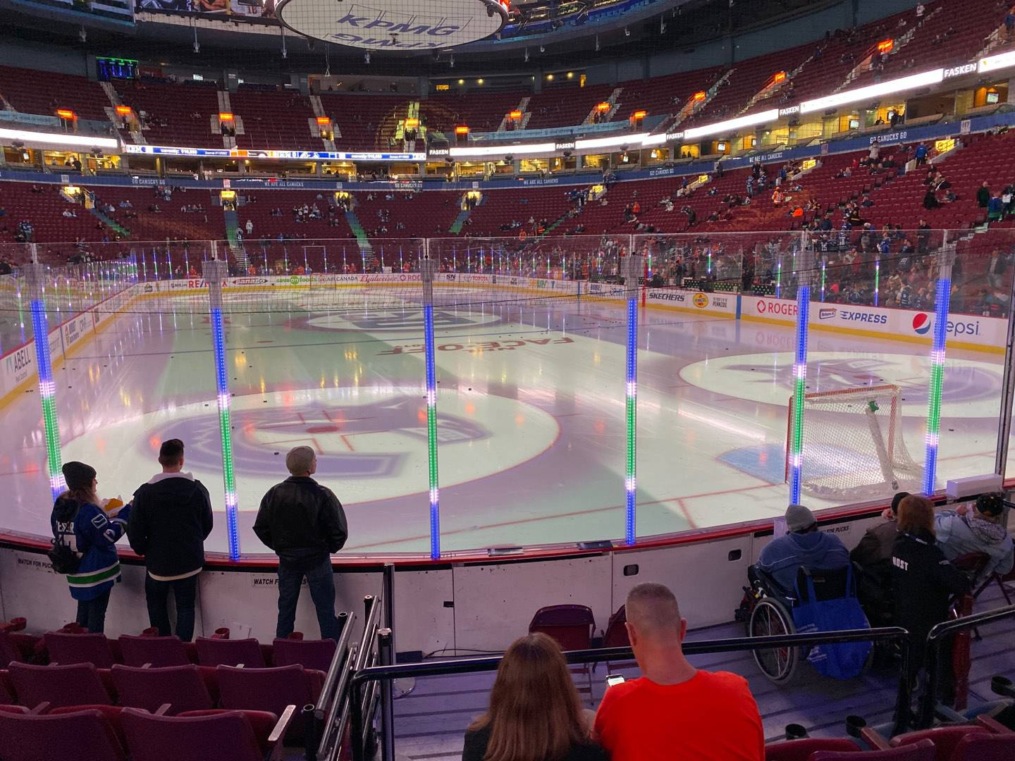 Rogers Arena Section 101 Row 7 Seat 105